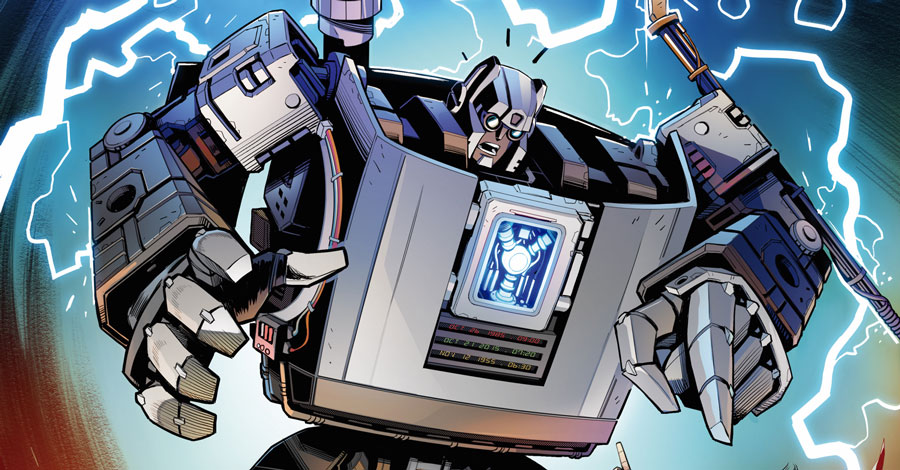 Transformers head 'Back to the Future' in a new crossover miniseries
