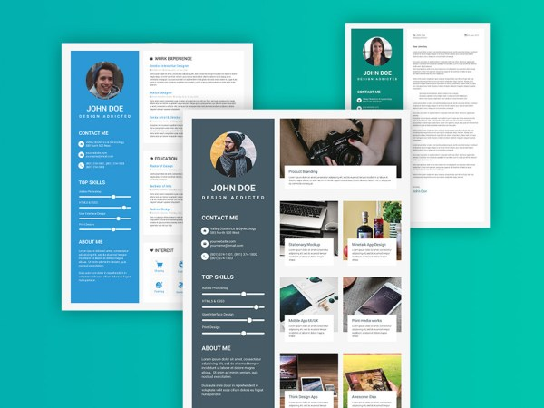 Free Material Design Resume Template