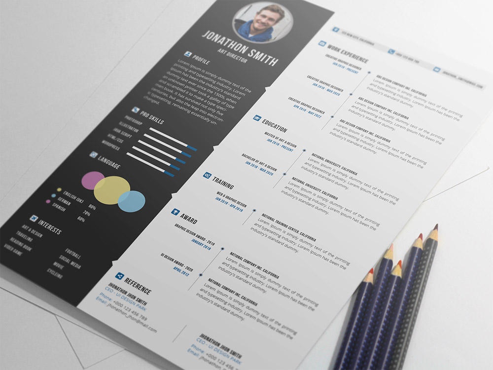 Pro Resume - Free Professional Resume Template with Cover Letter