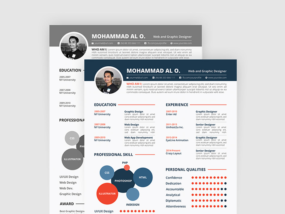 Free Resume, Portfolio & Cover Letter Template for Any