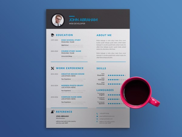 Free Simple Resume Template with Elegant Style Design