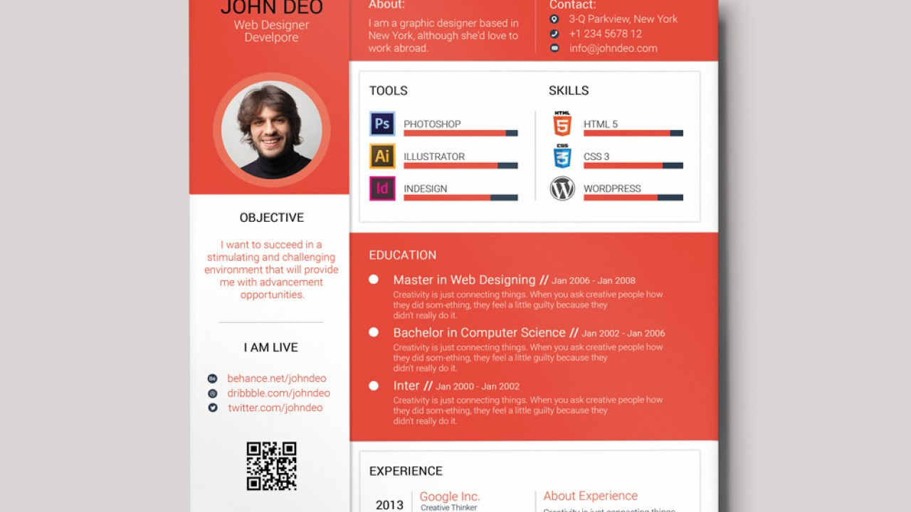 Free Colorful Material Resume Template With Cover Letter And
