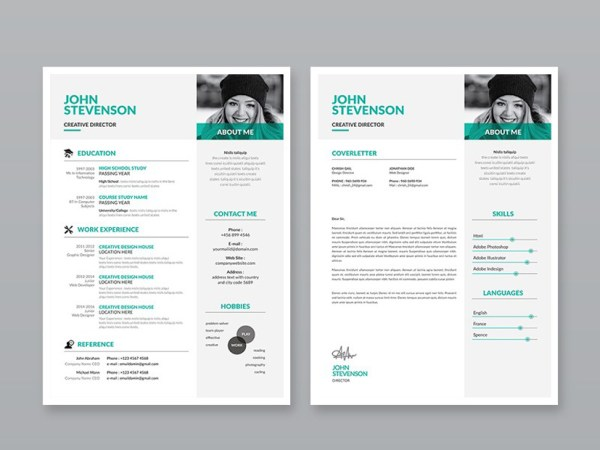 Free 3 Pages Resume Template with Professional Design