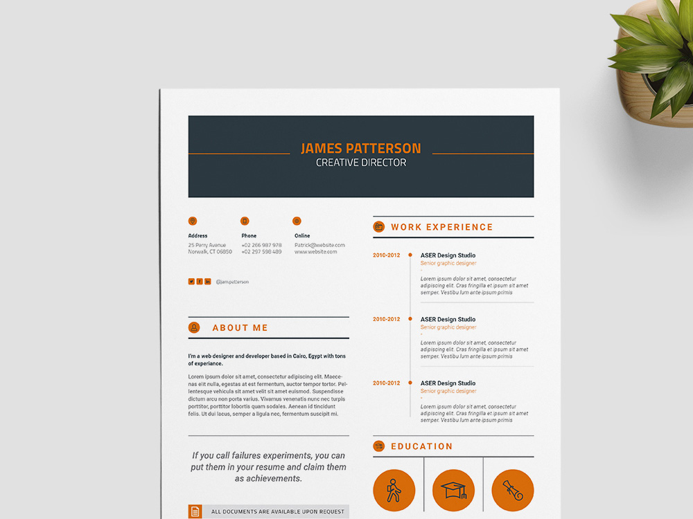 Here Is A Free Creative InDesign Resume Template For Best Impression You Can Use This Present Your Professional Profile With Clean And Elegant