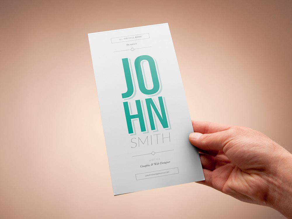 Free Vertical Resume Template for Professional Impression