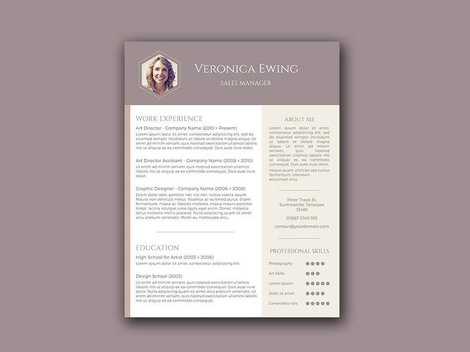 Honeycomb Resume Free Word Resume Template With Creative