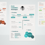 Infographic PSD Resume