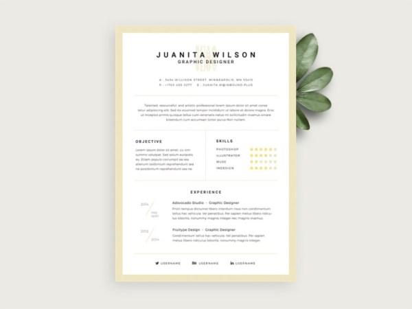 Free Elegant Resume Template with Stylish Design