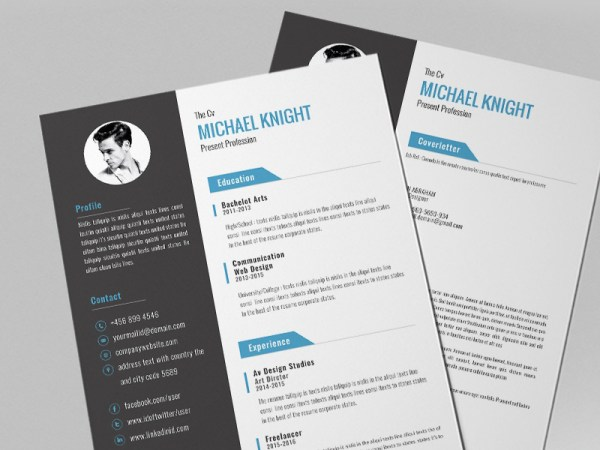 Free Professional Resume Template with Modern Style Design