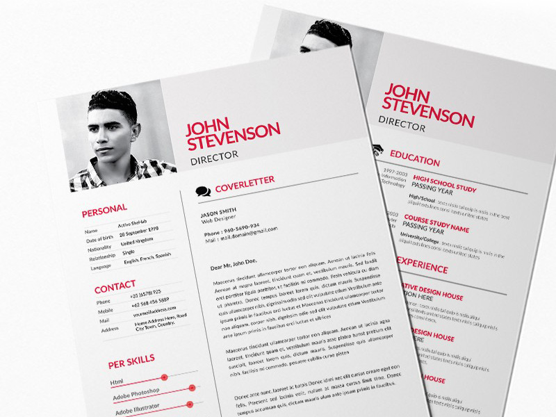 free red style resume template for any job opportunity