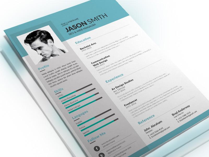 seo resume template