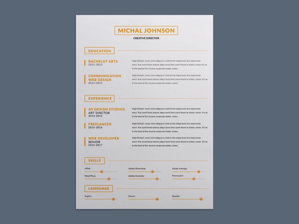 Simple Clean CV Template - Smashresume