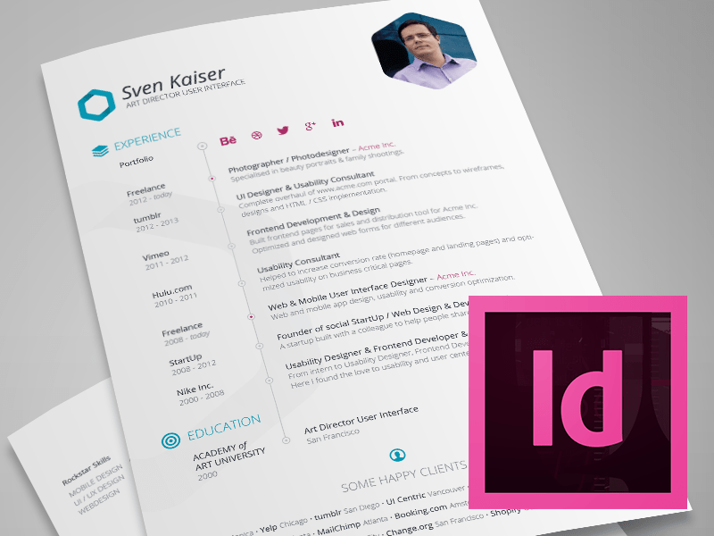 Here Is Free Indesign Resume Template For UI Designer Come With Clean And Professional Design This Also Ready Other Job Opportunity