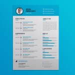 Blue Vector Resume