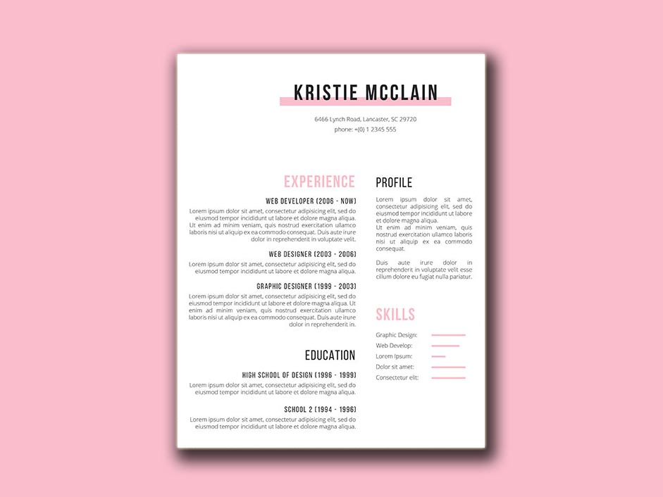 free crisp and clean resume template with simple design