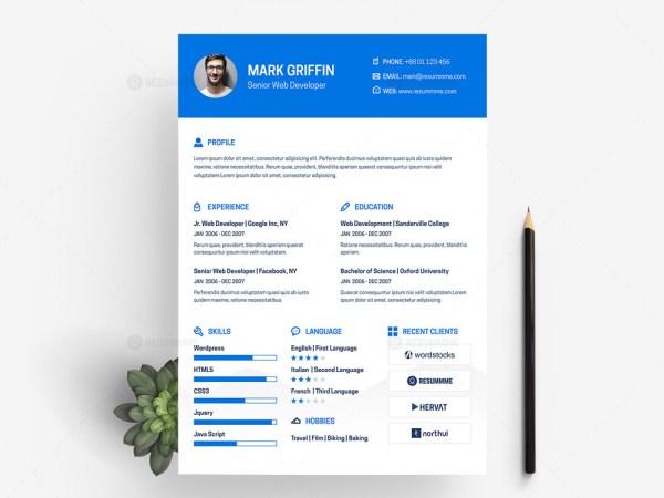 Free Web Developer Resume Template