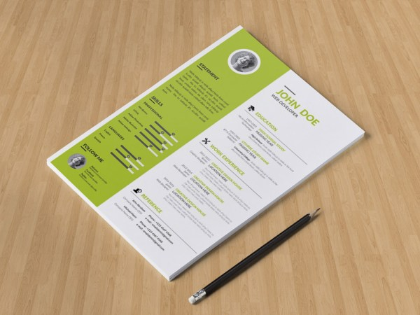 Free Personal Profile CV Template with Simple Design