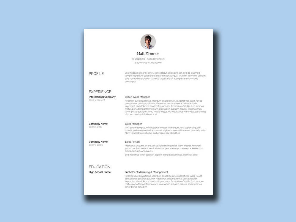 Spick And Span Is Free Clean Resume Template With Simple Minimalist Design This Comes An Organized Outline Using Streamlined