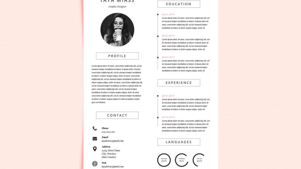 Miass Cv Free Resume Template With Super Minimalist Design