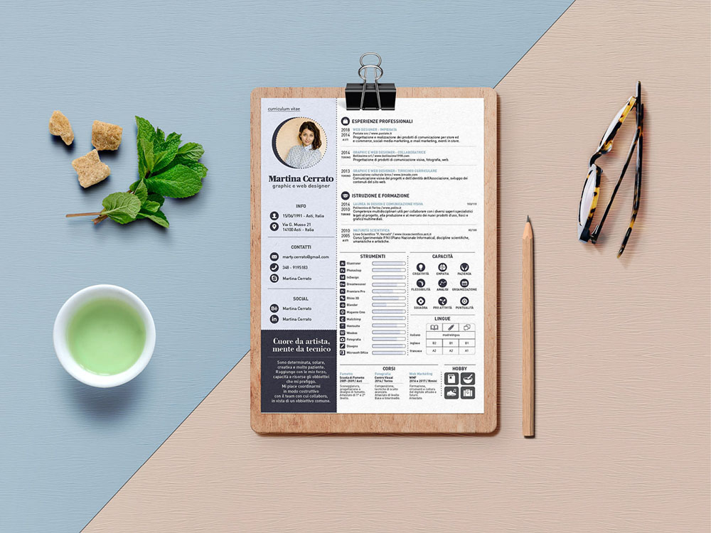 free infographic resume template made with adobe indesign