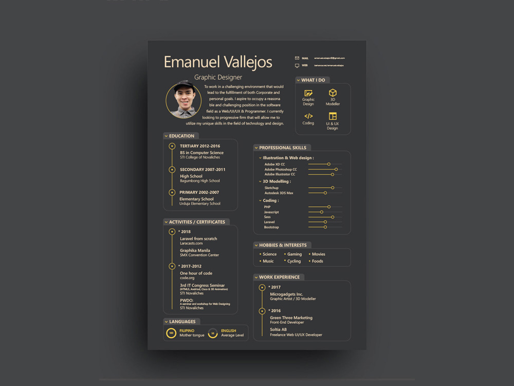 Starter Resume Free Illustrator Resume Template With