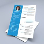 Blue Timeline CV