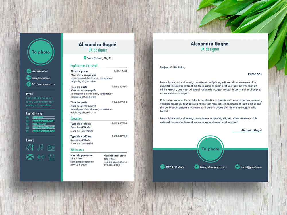 gagne resume free modern resume template with cover