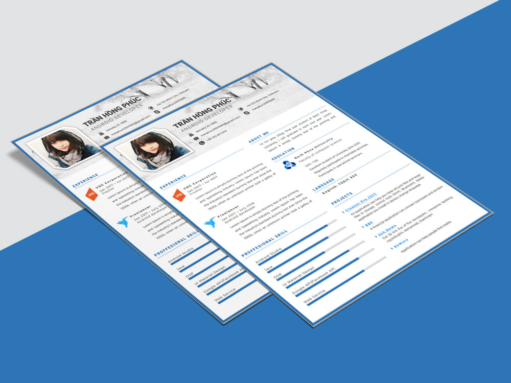free word cv template with simple and clean design