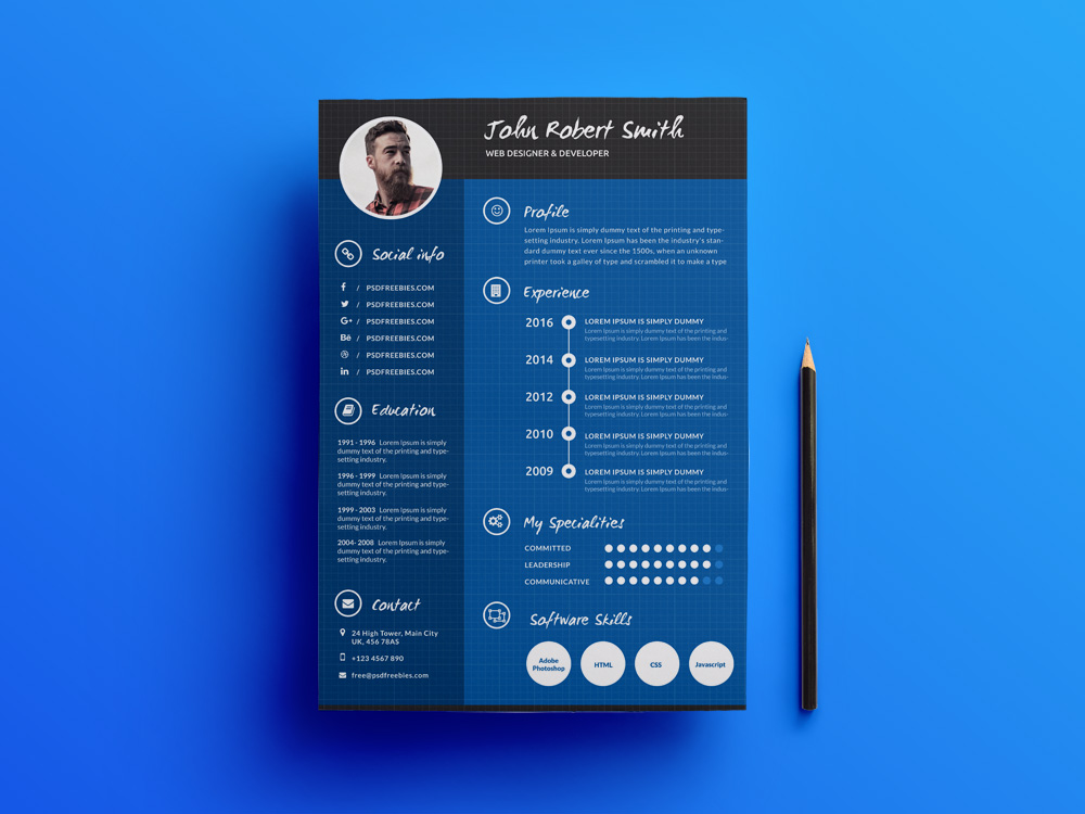 Creative Professional Resume Free Template