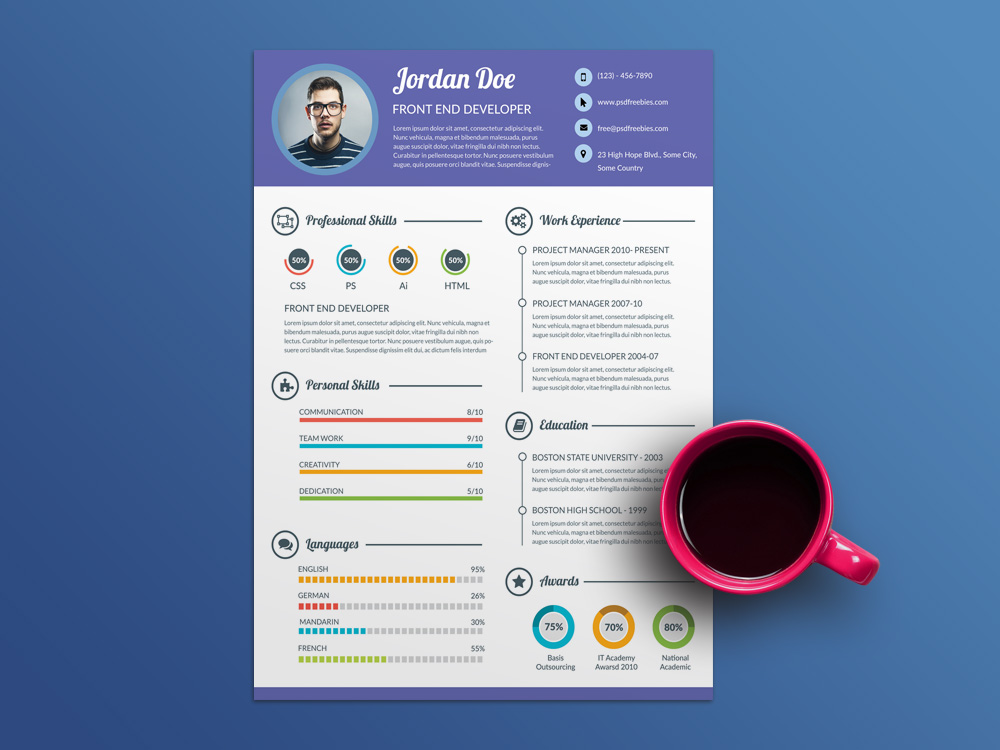 Free Super Clean Resume Template For Job Seeker