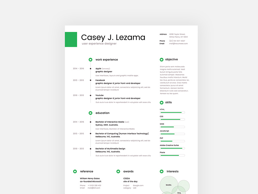 Lezama Is Free Clean Resume Template With Cover Letter For Your Next Job Opportunity It Infographic Style Design In PSD And
