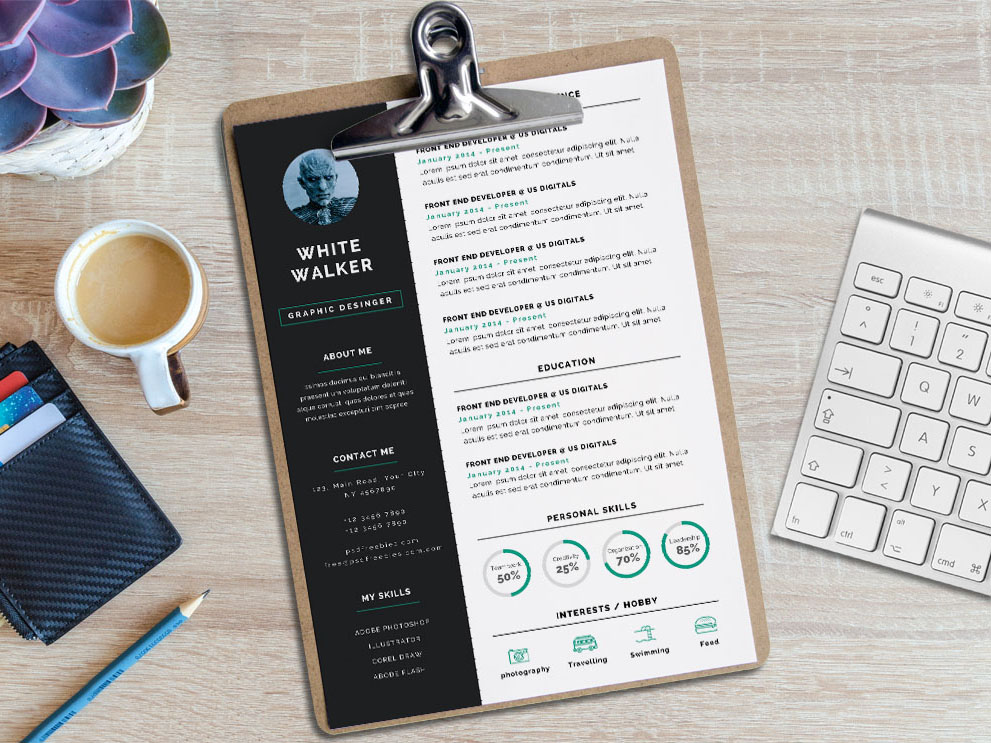 Free Simple and Clean Resume Template for Job Seeker
