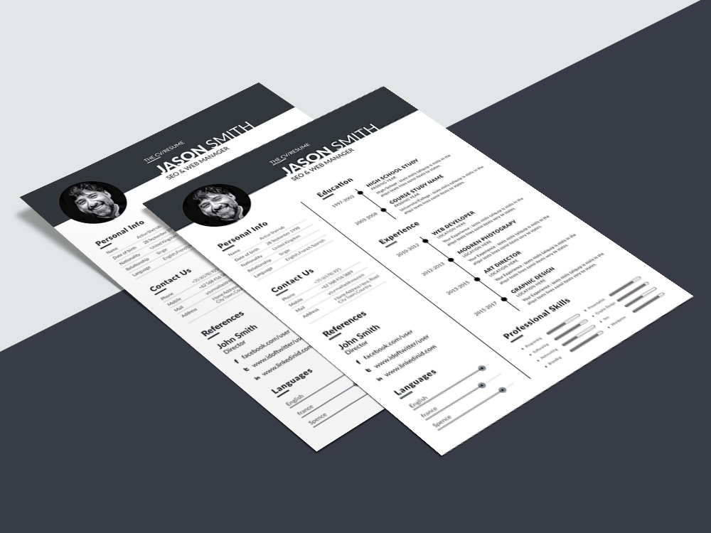 free web manager resume template