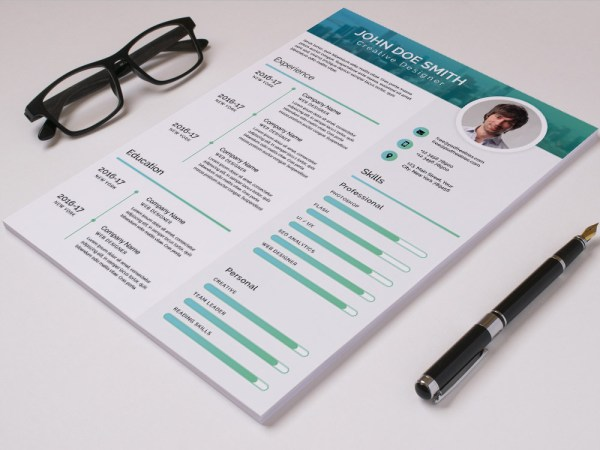 Free Modern Timeline Resume Template in PSD Format
