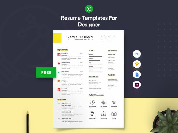 Free User Experience Designer Resume Template with Simple Look