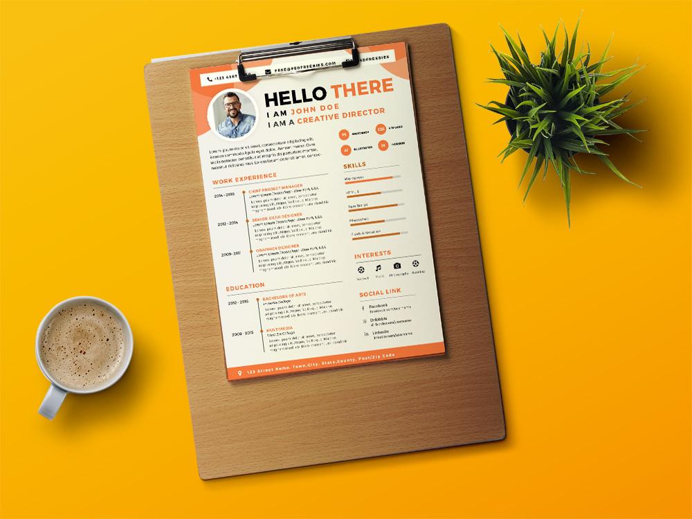 Designer CV - Free Designer Resume Template with Attractive Design