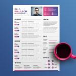 Multicolor PSD Resume