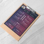 Purple PSD Resume