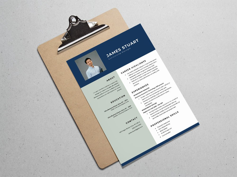 Free Sponsorship Manager Resume Template For Job Seeker In Microsoft Word Format Professionally Designed Finance And More