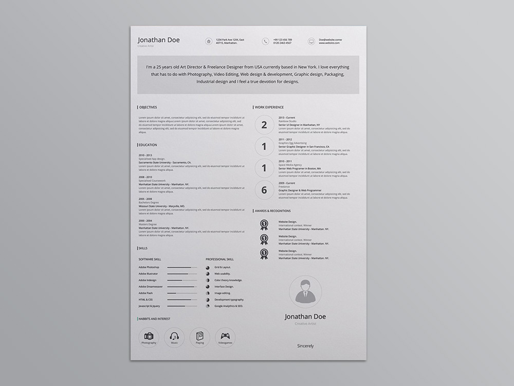 Here Is Free Editable AI Resume Template With Minimalist DesignThis Professional Uses Subtle Illustration And Plenty Of White Space To