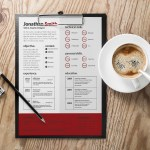 Elegant Red Resume
