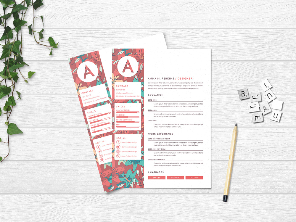 Free Pretty Floral Resume Template With Feminine Feel