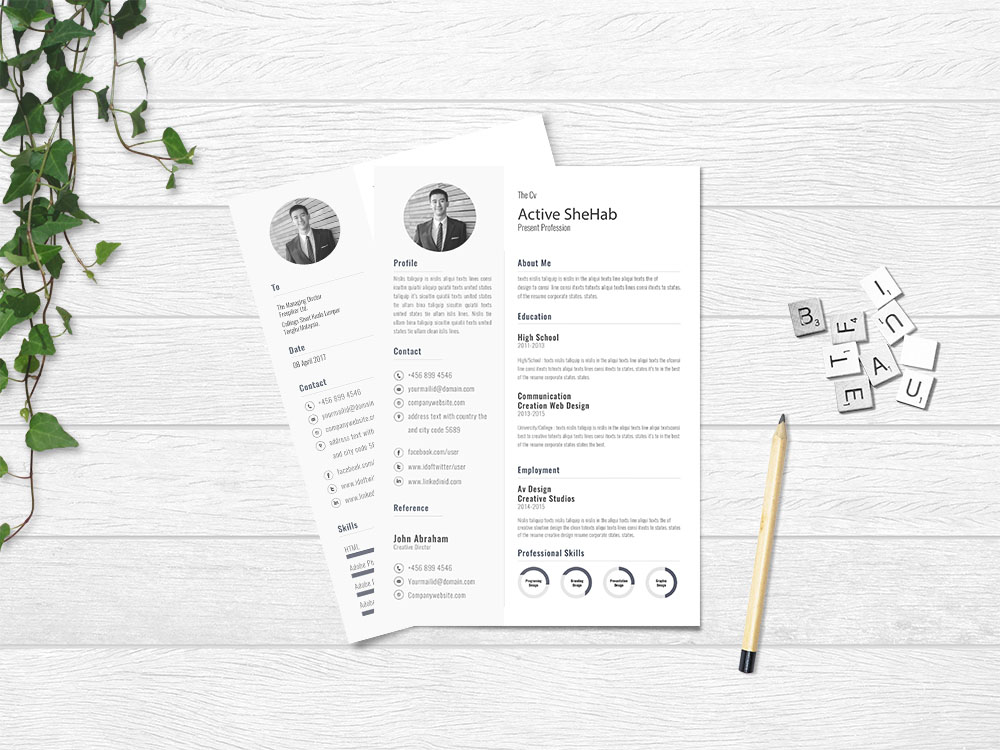 free simple resume design template for job seeker