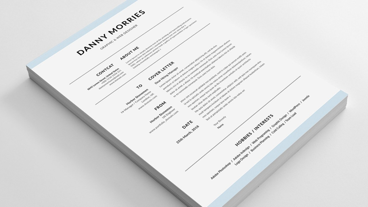 Danny Morries Resume Free Word Resume Template With