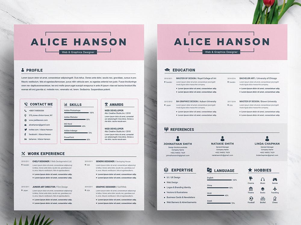 Free Student Resume Template With Matching Cover Letter