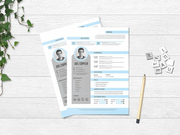 Free Clean General Resume Template in Elegant Design