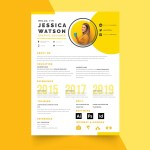 Yellow CV Template