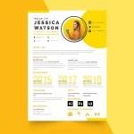 Yellow CV Template