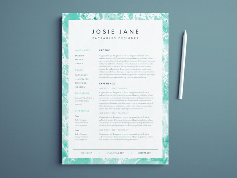 Free Packaging Designer Resume Template