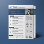 Designer PSD CV Template